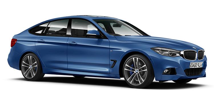 Auto raamfolie voor de BMW 3-serie Gran Turismo.