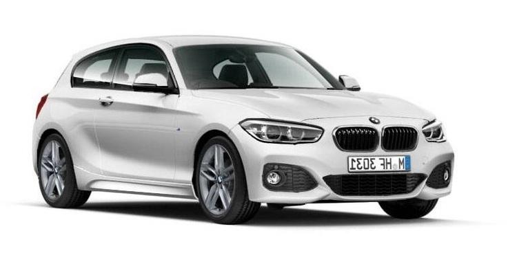 Auto raamfolie voor de BMW 1-serie 3-deurs.