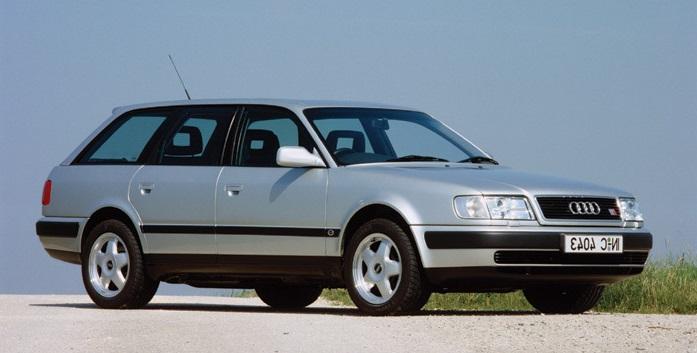 Auto raamfolie voor de Audi 100 Avant.