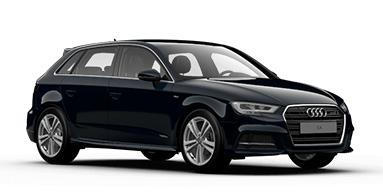 Auto raamfolie voor de Audi A3 Sportback 5-deurs.