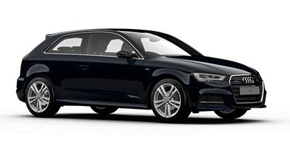 Auto raamfolie voor de Audi A3 3-deurs.