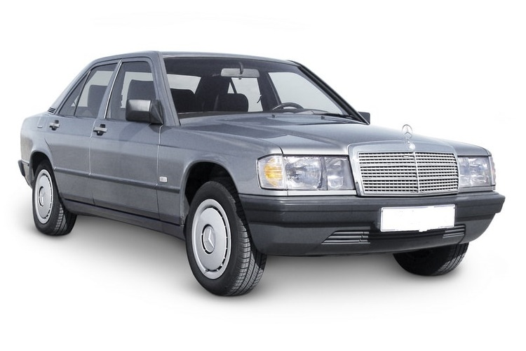 Auto raamfolie voor de Mercedes 190.
