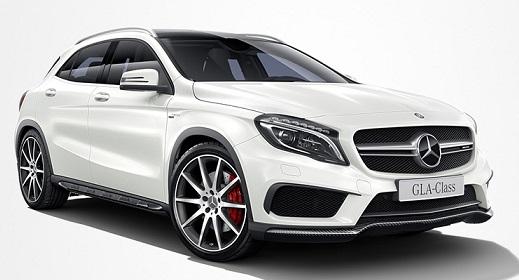 Auto raamfolie voor de Mercedes GLA.