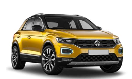 Auto raamfolie voor de Volkswagen T-Roc.