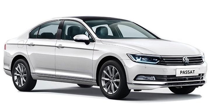 Auto raamfolie voor de Volkswagen Passat sedan.