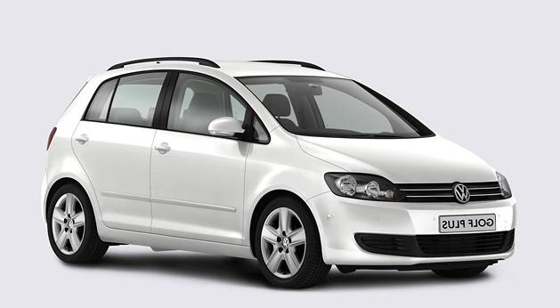Auto raamfolie voor de Volkswagen Golf Plus.