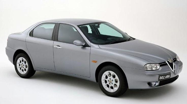 Auto raamfolie voor de Alfa Romeo 156 Sedan.