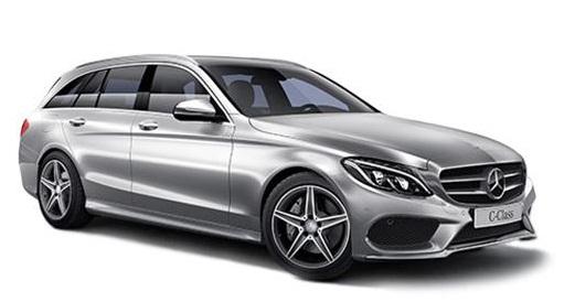 Auto raamfolie voor de Mercedes C-Klasse combi.