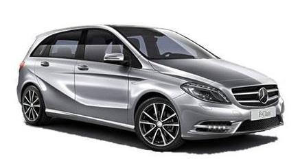 Auto raamfolie voor de Mercedes B-Klasse.