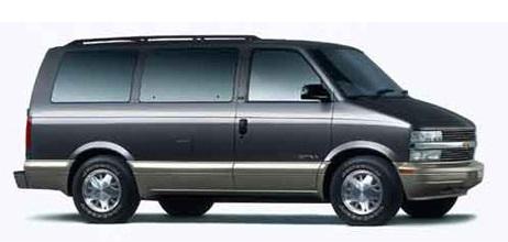 Auto raamfolie voor de Chevrolet Astro