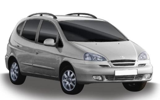 Auto raamfolie voor de Daewoo Rezzo.