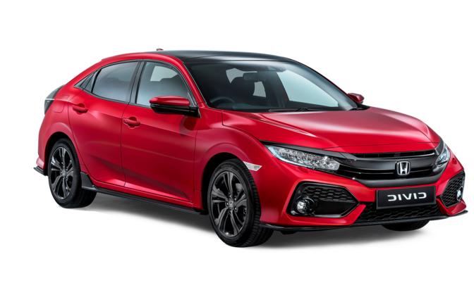 Auto raamfolie voor de Honda Civic 5-deurs
