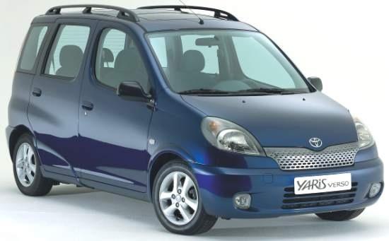 Auto raamfolie voor de Toyota Yaris Verso