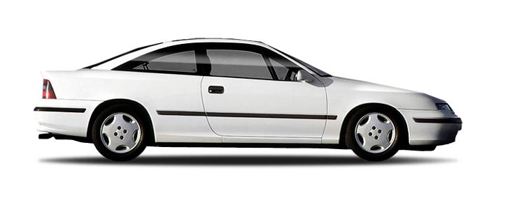 Auto raamfolie voor de Opel Calibra