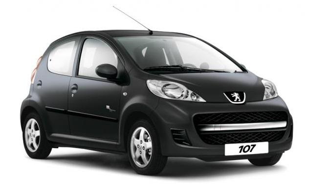 Auto raamfolie voor de Peugeot 107 5-deurs