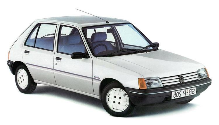 Auto raamfolie voor de Peugeot 205 5-deurs