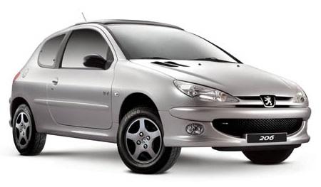 Auto raamfolie voor de Peugeot 206 3-deurs