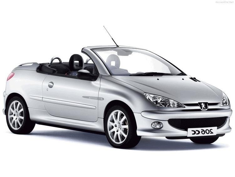 Auto raamfolie voor de Peugeot 206 CC