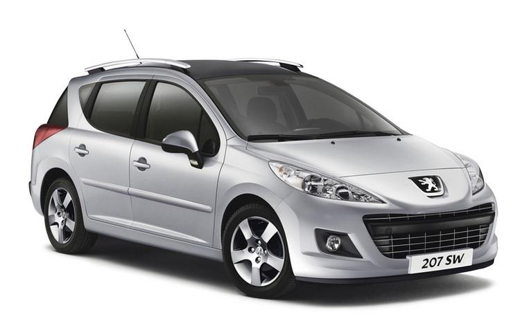 Auto raamfolie voor de Peugeot 207 SW