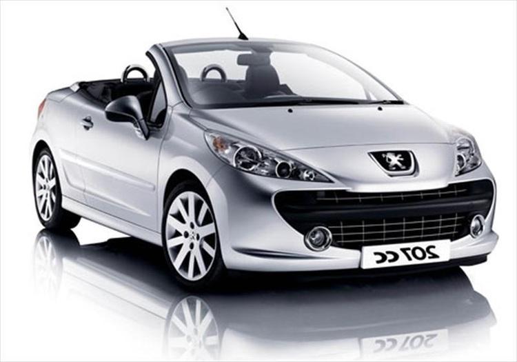 Auto raamfolie voor de Peugeot 207 CC