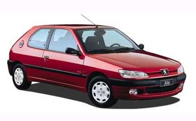 Auto raamfolie voor de Peugeot 306 3-deurs