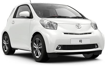 Auto raamfolie voor de Toyota IQ.