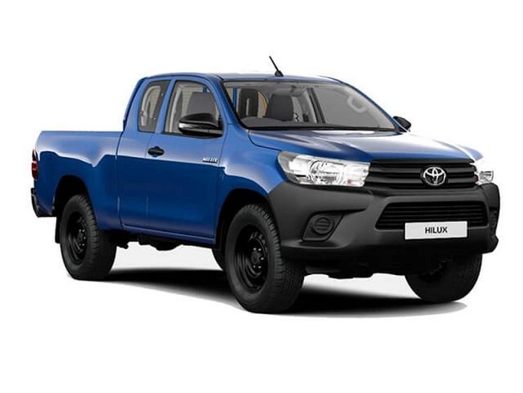 Auto raamfolie voor de Toyota Hilux Extra cab.