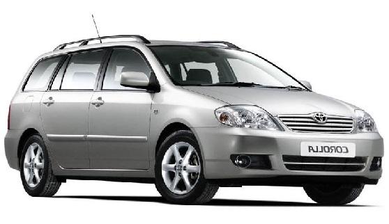 Auto raamfolie voor de Toyota Corolla kombi.