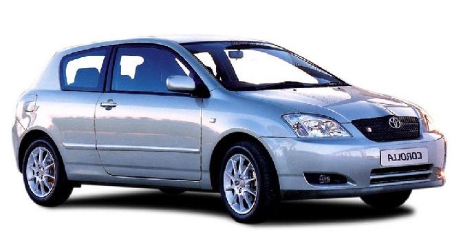 Auto raamfolie voor de Toyota Corolla 3-deurs.
