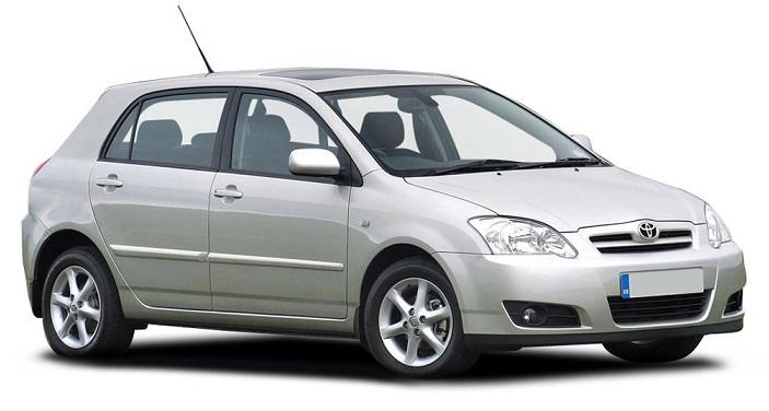 Auto raamfolie voor de Toyota Corolla 5-d.