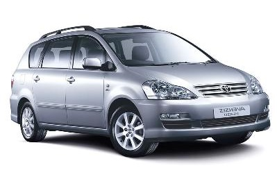 Auto raamfolie voor de Toyota Avensis Verso