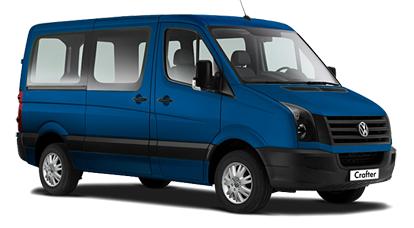 Auto raamfolie voor de Volkswagen Crafter Combi