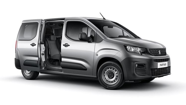 Auto raamfolie voor de Peugeot Partner Crew Cab