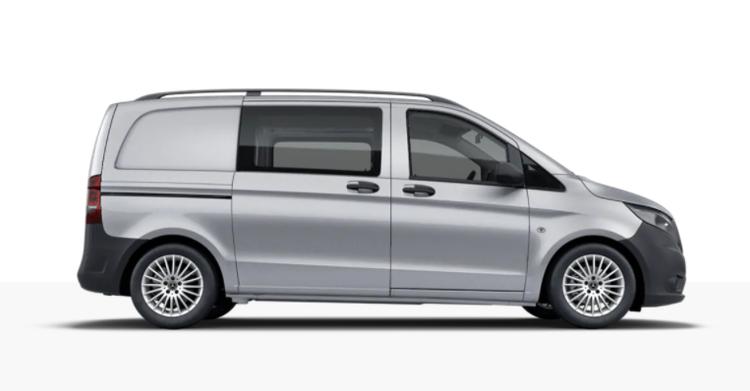 Auto raamfolie voor de Mercedes Vito Mixto