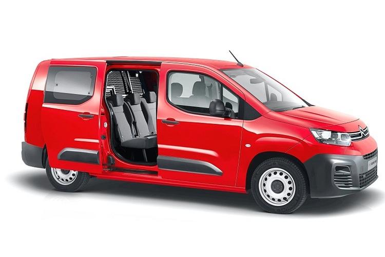 Auto raamfolie voor de Citroën Berlingo Crew Cab