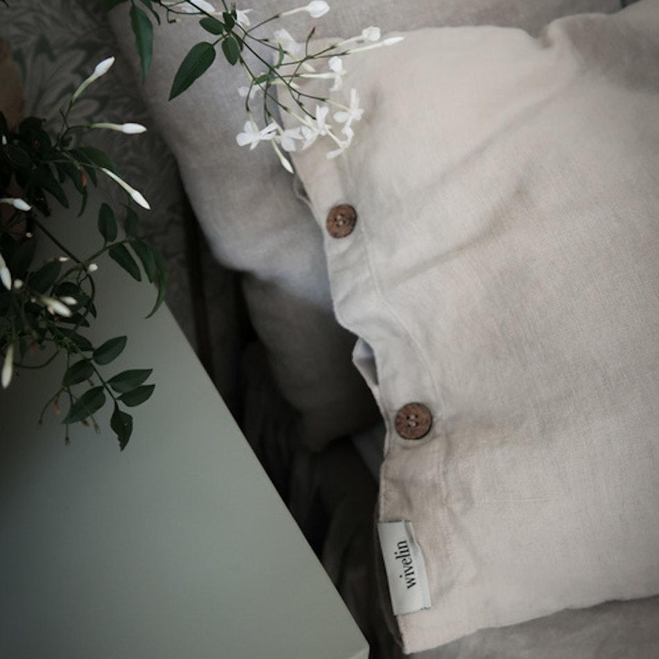 Örngott 50x60 cm i mjukt linne - Valnöt