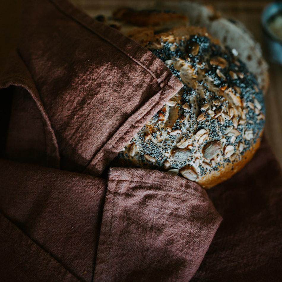 Stentvättad linneservett - Krapp & järn