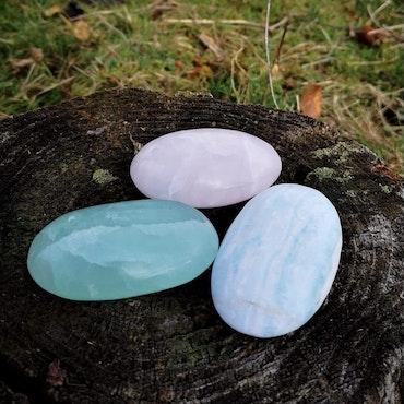 Meditationssten / Palmstone i Kalcit