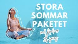 Stora sommarpaketet: 4 meditationer, 1 ljudbok + 1 föreläsning med Andreas & Jenny