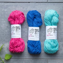 BettaKnit Prato Cotton - bulky garn i 100 % återvunnen bomull