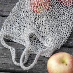 Järbo Mönster - Stickad fruktkasse med handtag