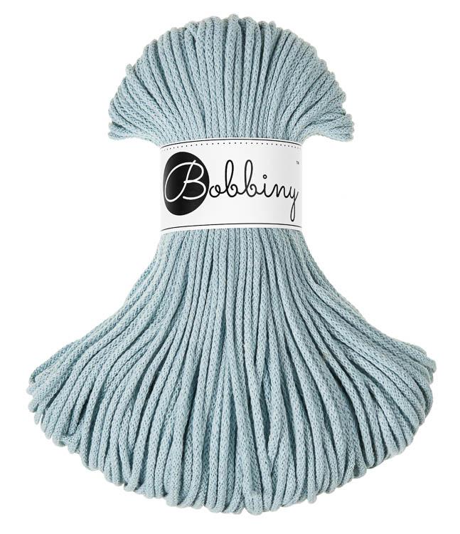 Bobbiny Braided Cord Junior 3 mm - flätat bomullsgarn