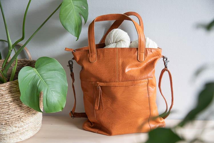 Muud Arendal Whisky - brun väska i läder