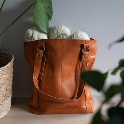 Muud Narvik Whisky - brun väska i läder