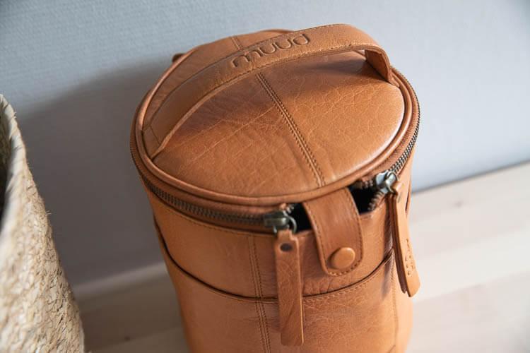 Muud Saturn Whisky - brun projektväska i läder