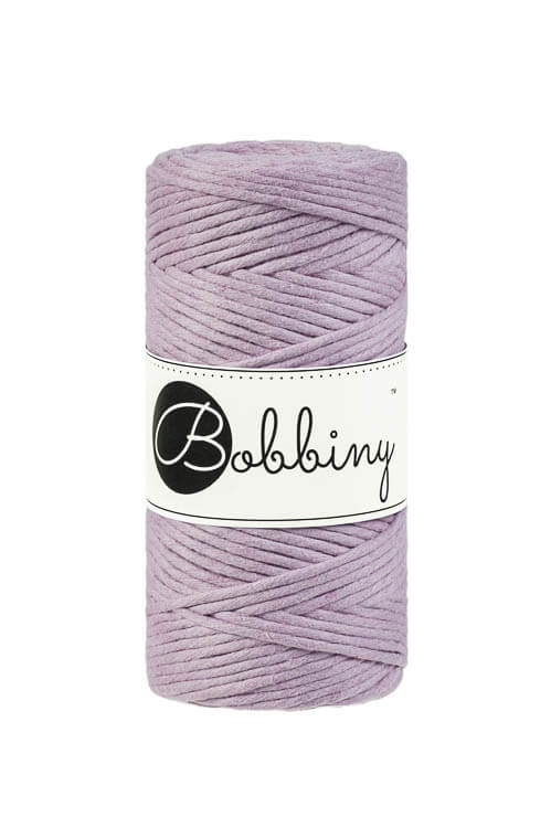 Bobbiny makramégarn Single Twist Regular 3 mm Dusty Pink