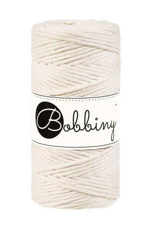 Bobbiny makramégarn Single Twist Regular 3 mm Natural