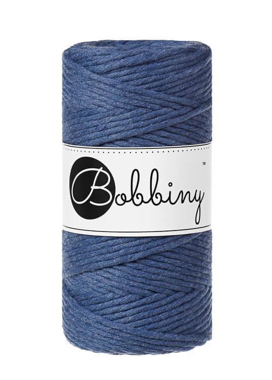 Bobbiny makramégarn Single Twist Regular 3 mm Jeans