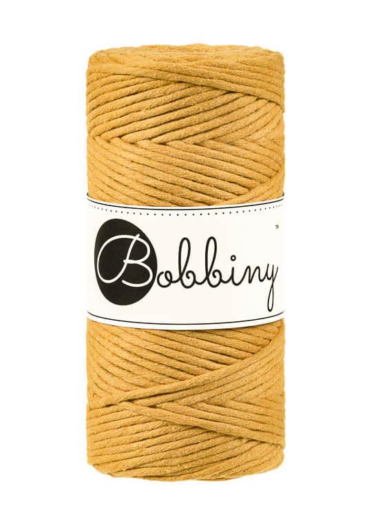 Bobbiny makramégarn Single Twist Regular 3 mm Mustard