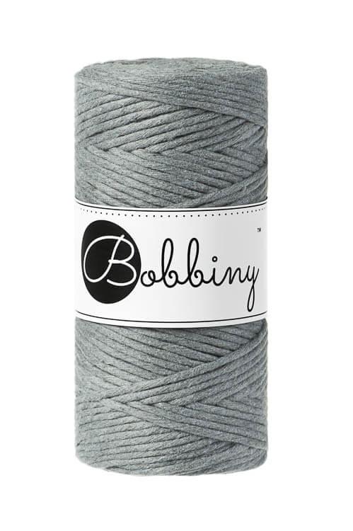 Bobbiny makramégarn Single Twist Regular 3 mm Steel